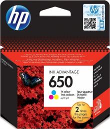 HP 650 Tri-Color Cartridge