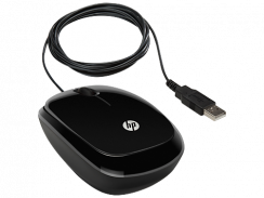 HP X1200 Sparkling Black Wired Mouse