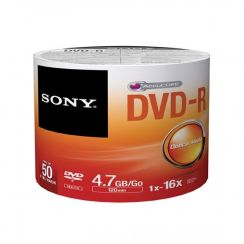 Sony DVD-R 50 Pack 4.7GB/Go 1x-16x (Bulk)