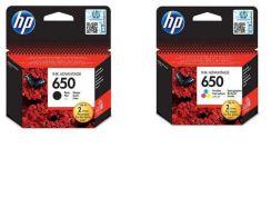 HP 650 Ink Cartridges Set ( Black/Color)