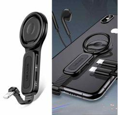 USAMS US-SJ274 AU06 Dual Lightning Ring Holder Gaming Adapter
