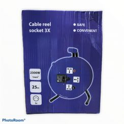 Cable Reel socket 3x - 25mtr