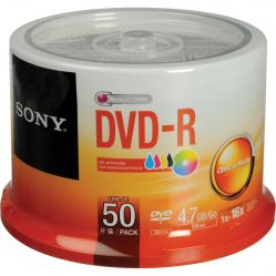 Sony DVD-R 50 Pack 4.7GB/Go 1x-16x (Spindle)