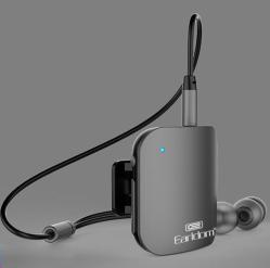 Earldom BH02 3in1 Bluetooth Earphones Collar-clip Music Bluetooth – Car Audio Receiver