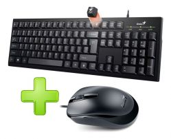 Genius Wired Keyboard KB100 + Mouse DX120 Combo