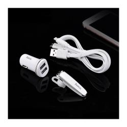 HOCO E8 Wireless Earphone And Vehicle Charger Set