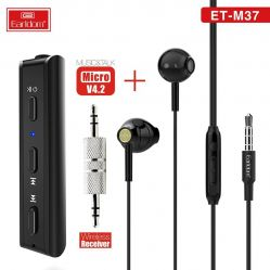 Earldom ET-M37 Bluetooth Receiver With 3.5MM jack With headset