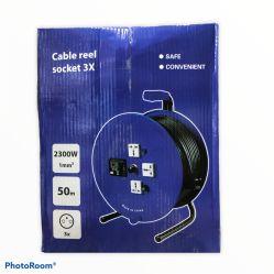 Cable Reel socket 3x - 50mtr